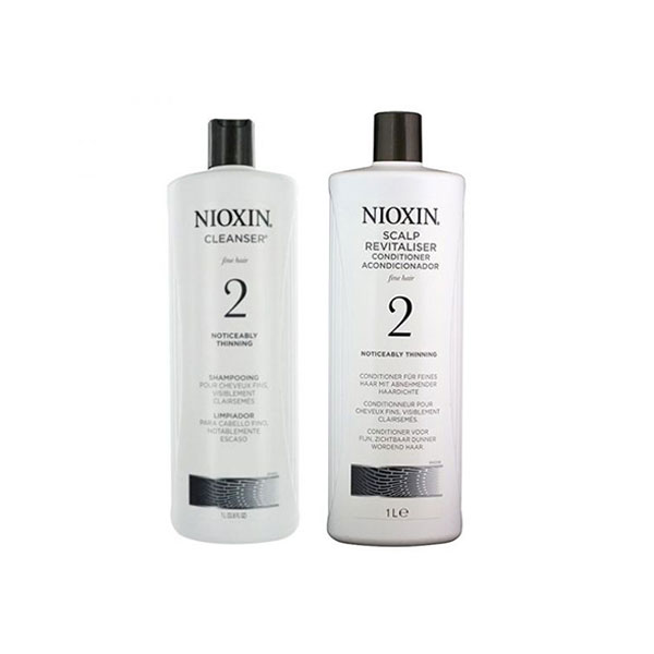 1000ml Nioxin System 2 Shampoo And Conditioner Pack