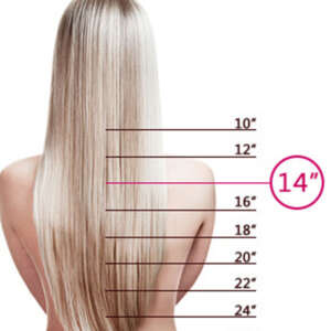 Tymeless Hair And Wigs Clip In Light Blonde 14 Inches