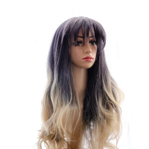Tymeless Hair Wigs long ombre dark roots light blonde