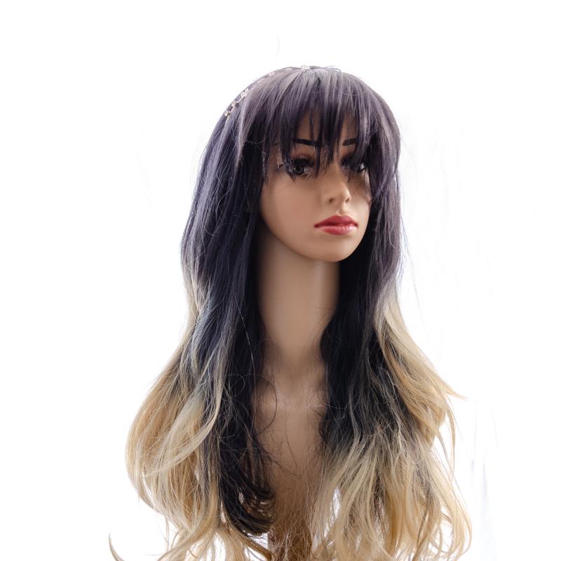 Tymeless Hair Wigs long ombre dark roots light blonde