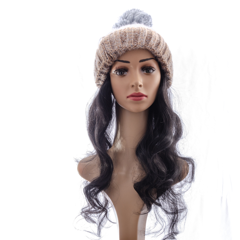grey and brown beanie wig - tymeless hair and wigs