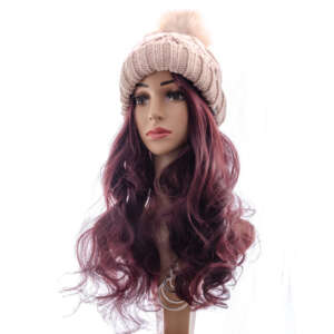 Dusty Pink Beanie Wig - lon - Tymeless hair and wigs