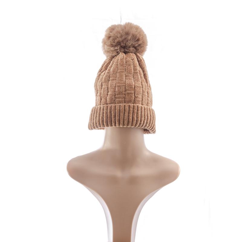 Wool Brown Wig Beanie