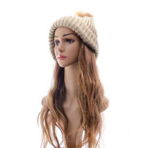 Light Brown Tan Wig Beanie