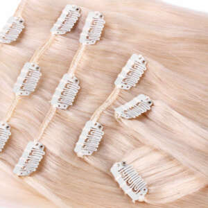 Tymeless hair wigs clip-in extensions light blonde