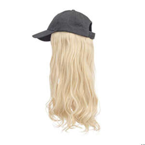 blonde hair black cap wig tymeless hair