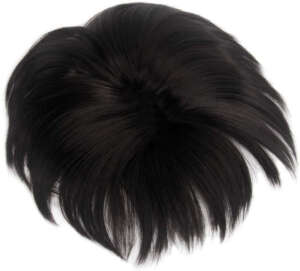 Hair Topper Natural Black