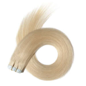 Tymeless Hair And Wigs Natural Lightest Blonde Tape In Extensions