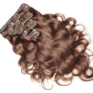 Tymeless hair wigs clip ins 100g brown