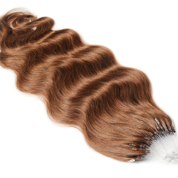 Tymeless hair wigs wefted micro rings 100g light brown