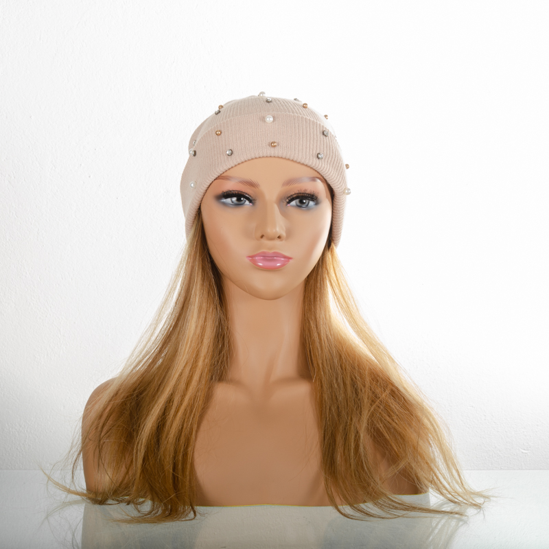 Natural Copper Blonde | Quad-Wefted 100 % Human Hair | Beanie Wig | 16""